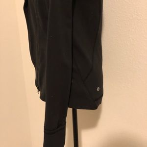 lululemon athletica Tops - Asymmetrical Zip Lululemon Black Jacket